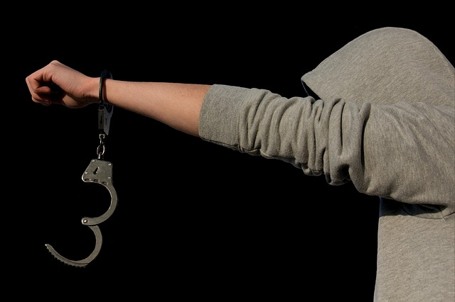 Criminal Arrest Handcuffs Help Protection Of Minors